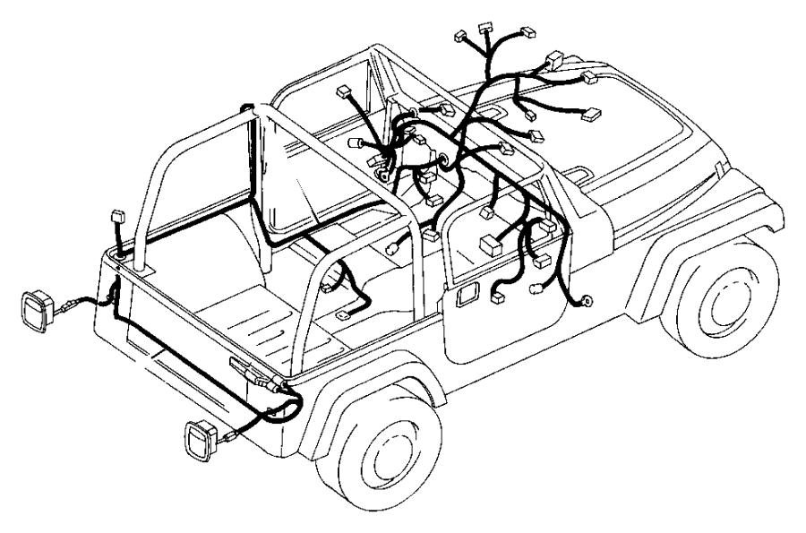 2004 Jeep Wrangler Wiring  Hardtop