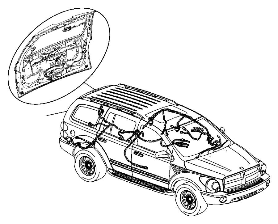 Dodge Durango Wiring. Body - 56049411AH | Mopar Parts ...