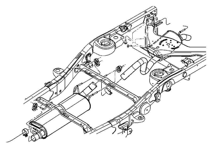 2006 Dodge Durango Muffler  Exhaust  Evaevd