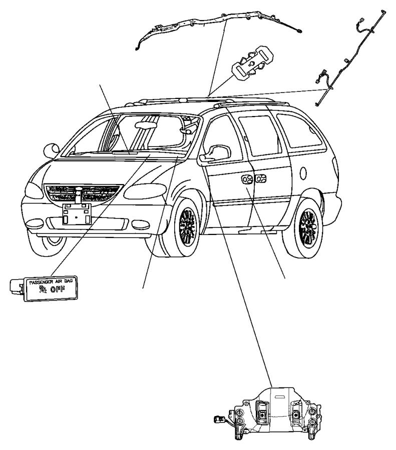 Dodge Grand Caravan Wiring  Side Air Bag Jumper