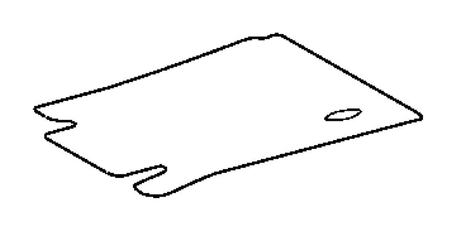 82208249 - mopar mat kit  floor - front  dark slate