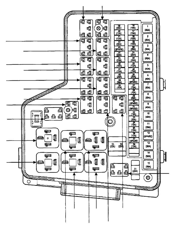 dodge ram 3500 power distribution center 68005480ab