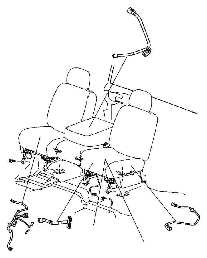 2005 Dodge Ram 1500 Wiring  Jumper  Power Seat  Left  Left Seat  Switch  Trim   Leather Trim