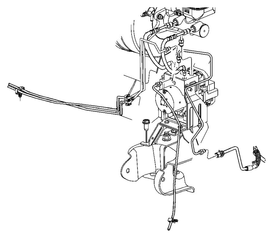 dodge durango tube  secondary  brake  master cylinder to hcu  hculines