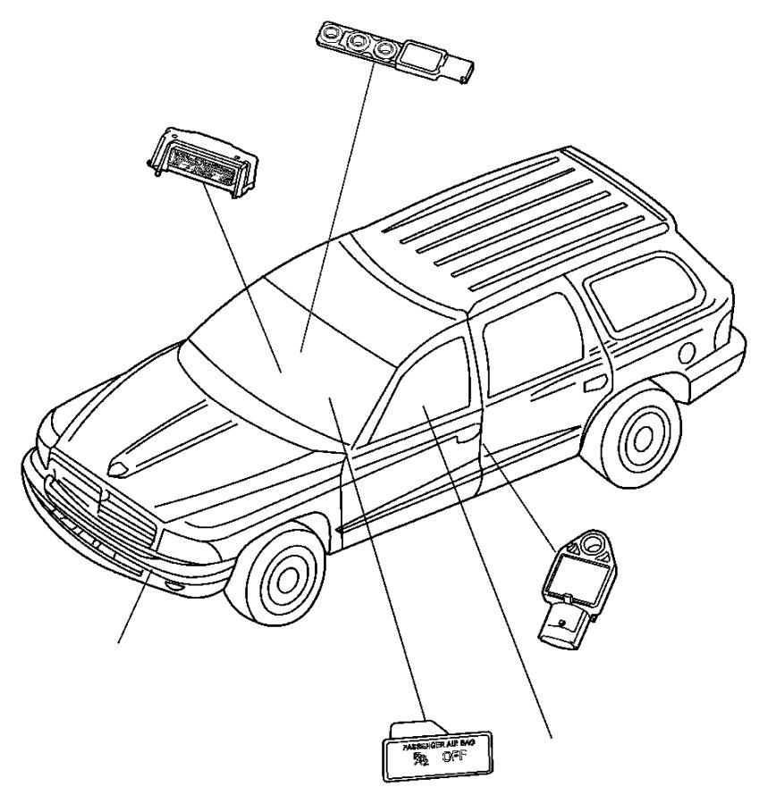 Dodge Durango Sensor  Side Airbag Impact