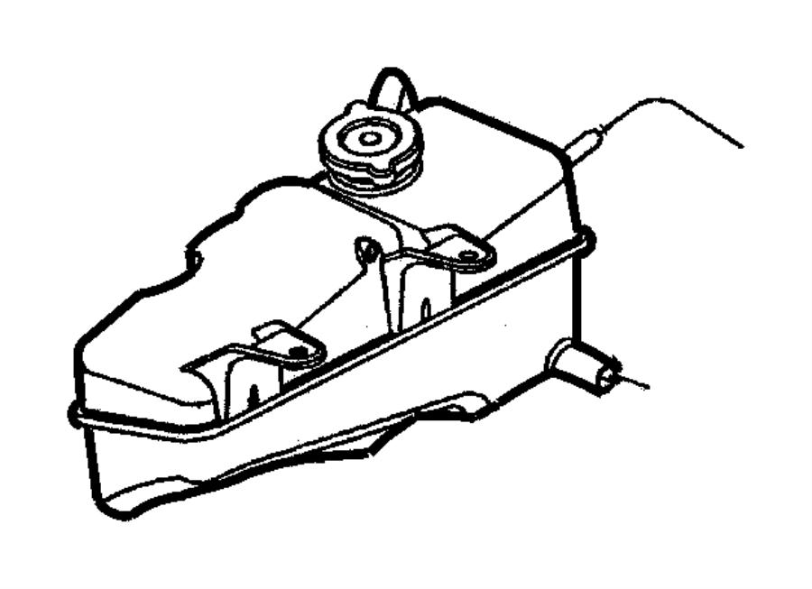 Dodge Intrepid Bottle  Pressurized Coolant