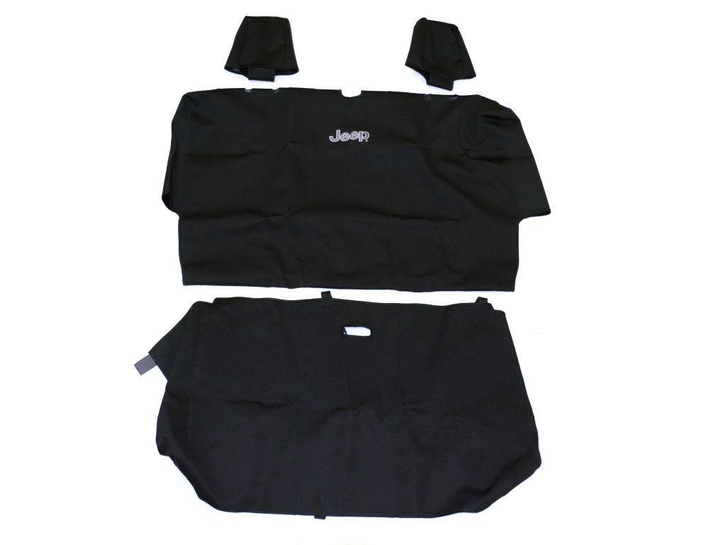 2018 Jeep Wrangler Rear Seat Cover Set Black Vinyl 2