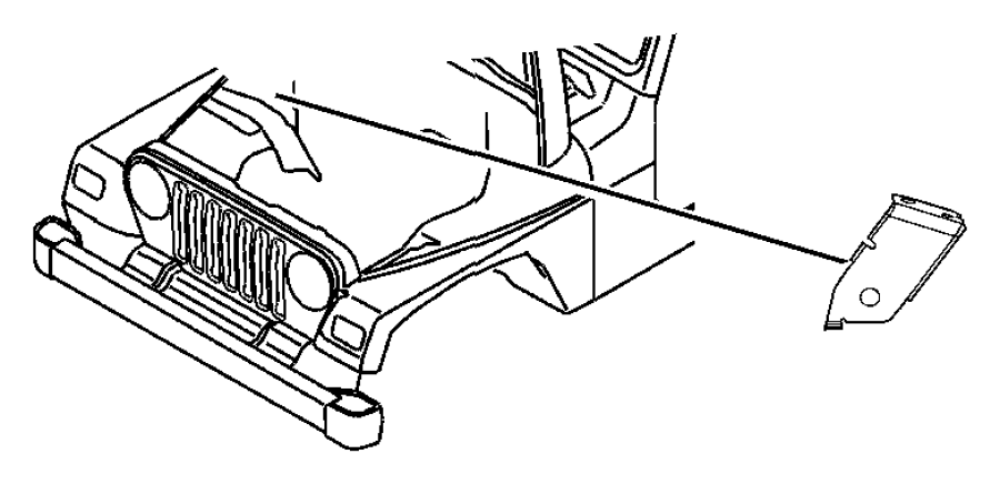 2003 jeep wrangler bracket  wiring harness  battery