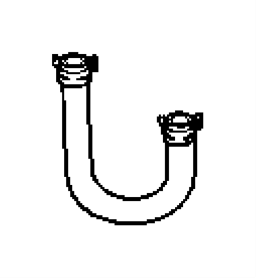 55038143aa dodge tube return oil cooler includes