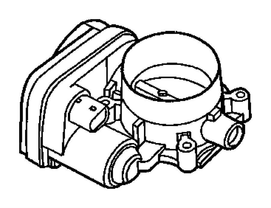 2008 Dodge Throttle Body  Egg