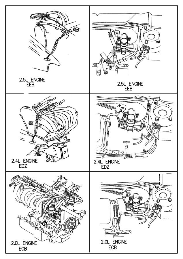 Plymouth Breeze Harness  Vapor Purge  Edz 2 4l Engine