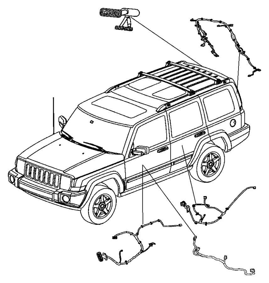 jeep commander wiring  front door  driver  drivers side