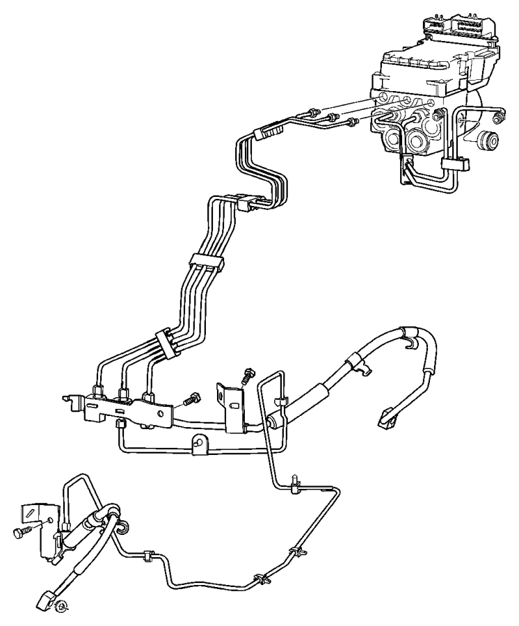 2007 Dodge Ram 2500 Tube  Tube Assembly  Brake  Master