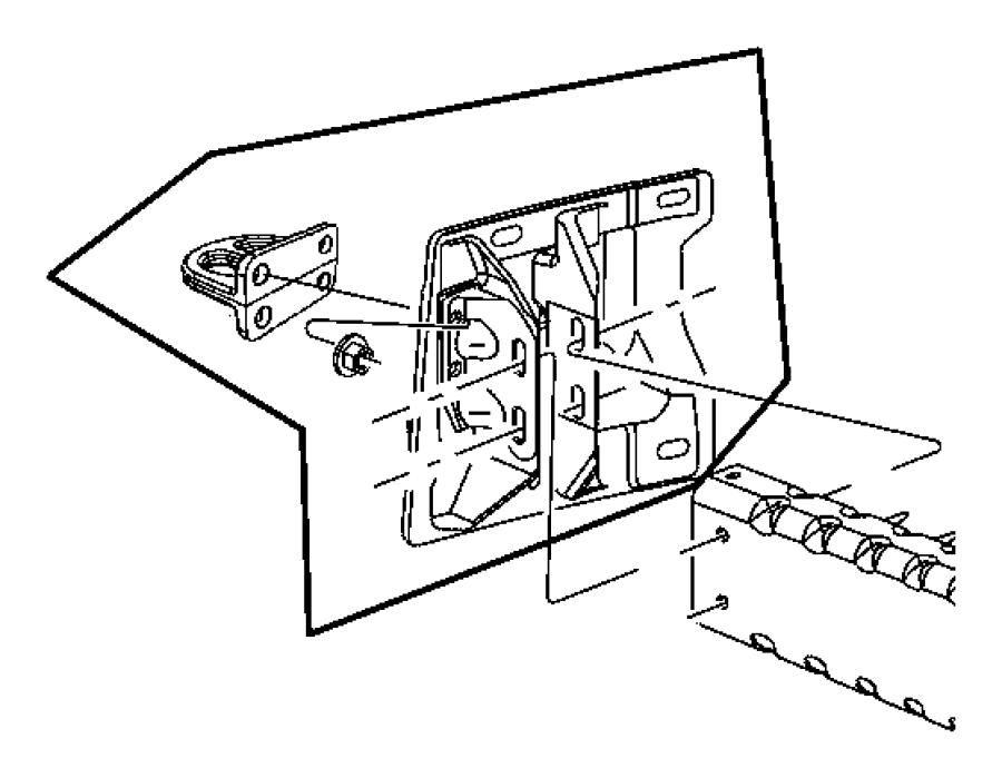 68196252ab dodge bracket bumper tow hook right. Black Bedroom Furniture Sets. Home Design Ideas