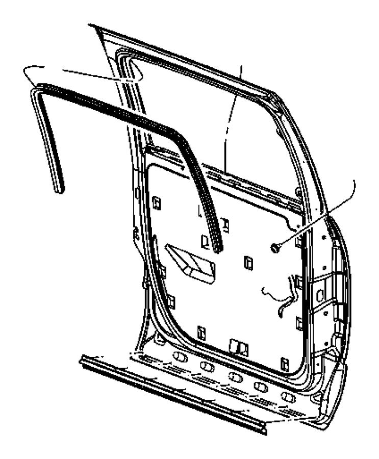2007 Dodge Seal. Door - 55277032AC