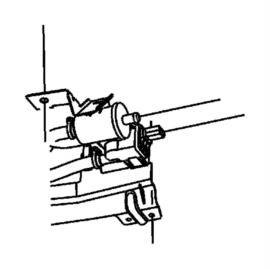 chrysler pacifica bracket  vapor canister  eghegq  dectection