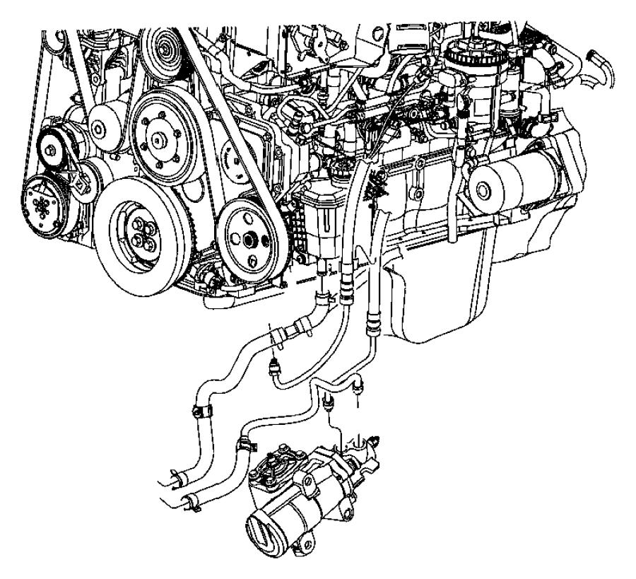 2008 dodge ram 2500 slt quad cab 6 7l cummins turbo diesel a  t 4x4 hose  power steering pressure