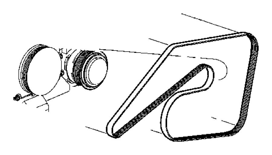 2008 dodge charger r  t 5 7l hemi v8 belt  serpentine  vbelts