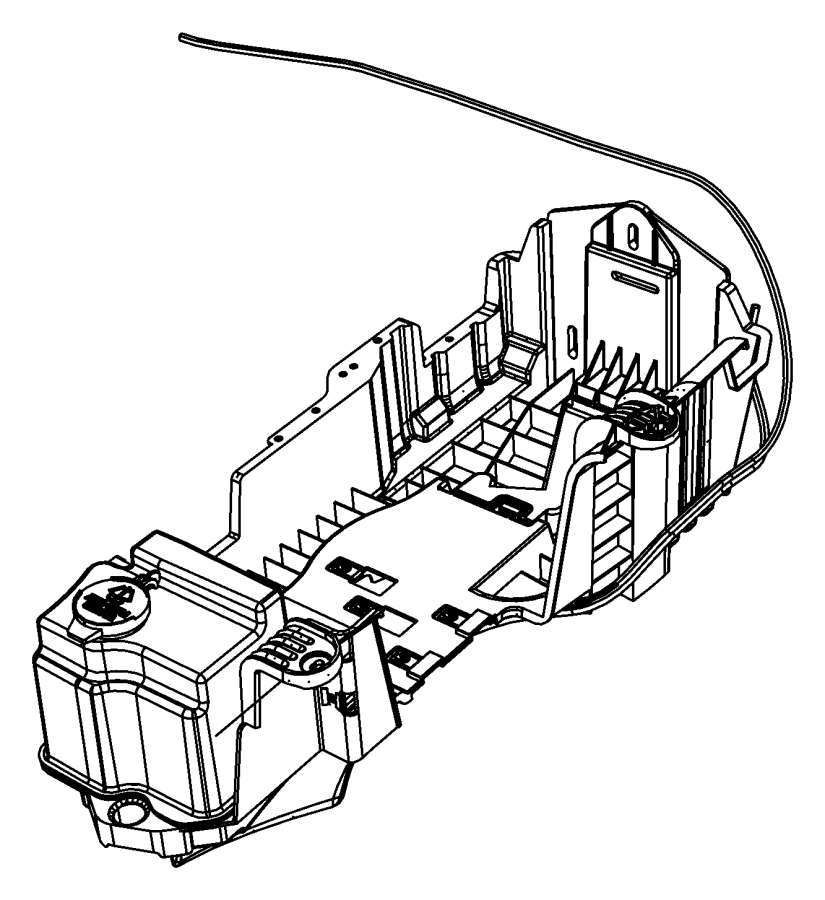 2007 jeep wrangler tray  battery  with washer reservoir