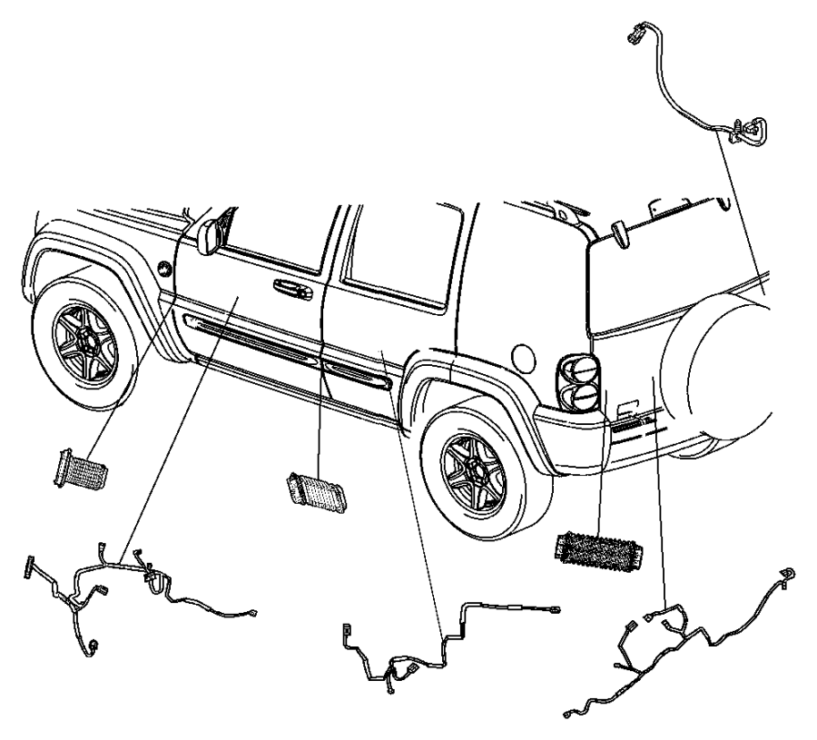 Jeep Liberty Wiring  Front Door  Passenger  Passenger Side   Venezuela Ckd    Egypt