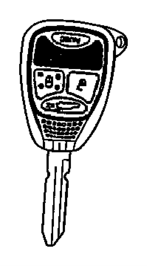 68273340ac - dodge key  blank with transmitter   keyless entry