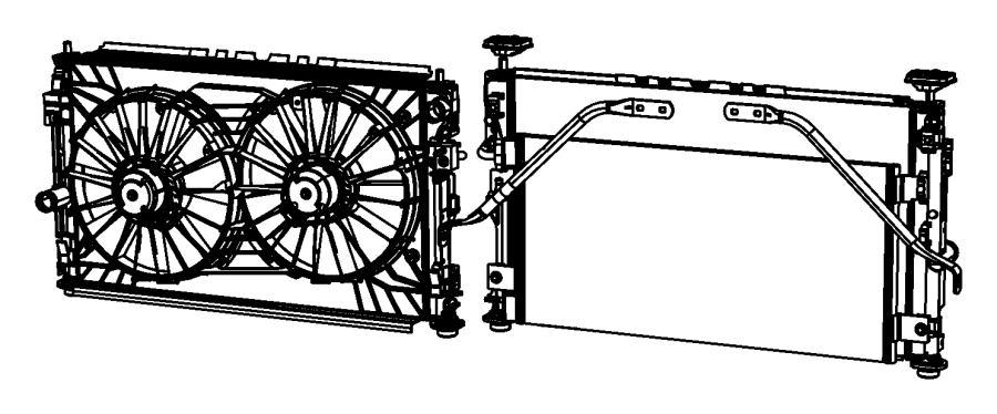 2011 Jeep Compass Shroud  Fan  Modulemiddle  Baffles