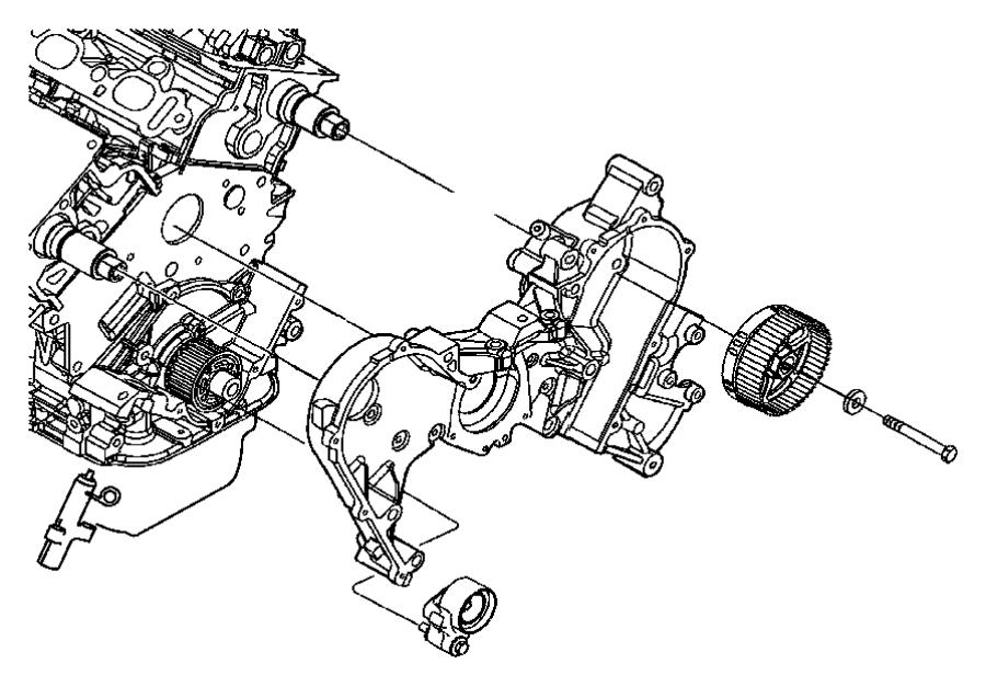 Chrysler Sebring Cover  Timing Case  Inner