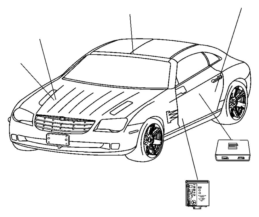 2006 Chrysler Crossfire Module. Alarm - 05102558AA