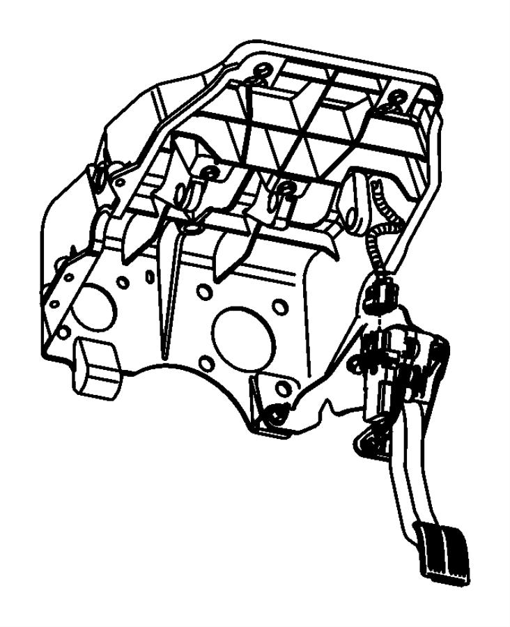 dodge ram 1500 pedal  accelerator  controlled