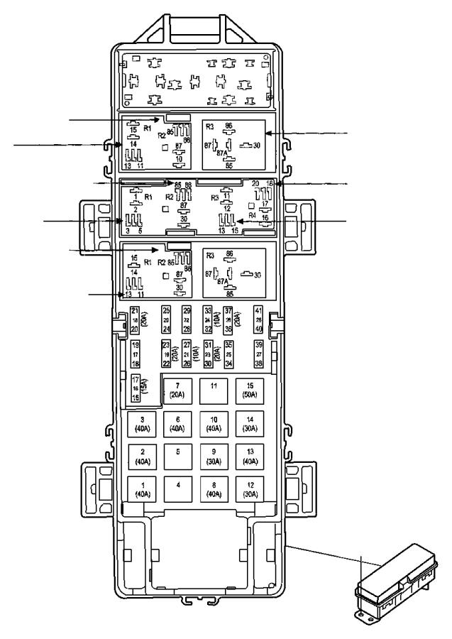 2009 dodge ram 1500 fuse  fuse cartridge  j case  60 amp  export