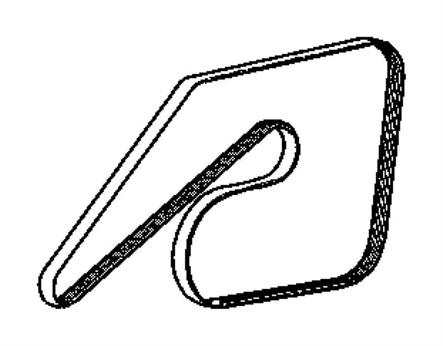 2008 Dodge Charger R  T 5 7l Hemi V8 Belt  Serpentine