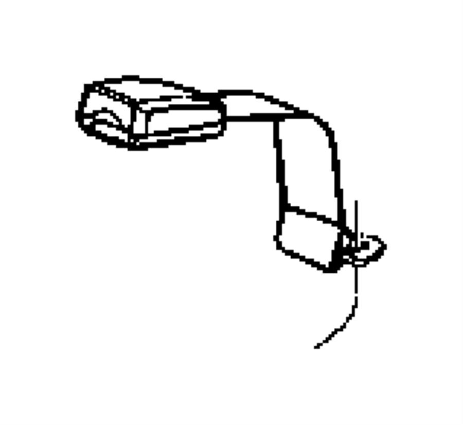 Dodge Dakota Seat Belt  Rear Inner  Used For  Right And