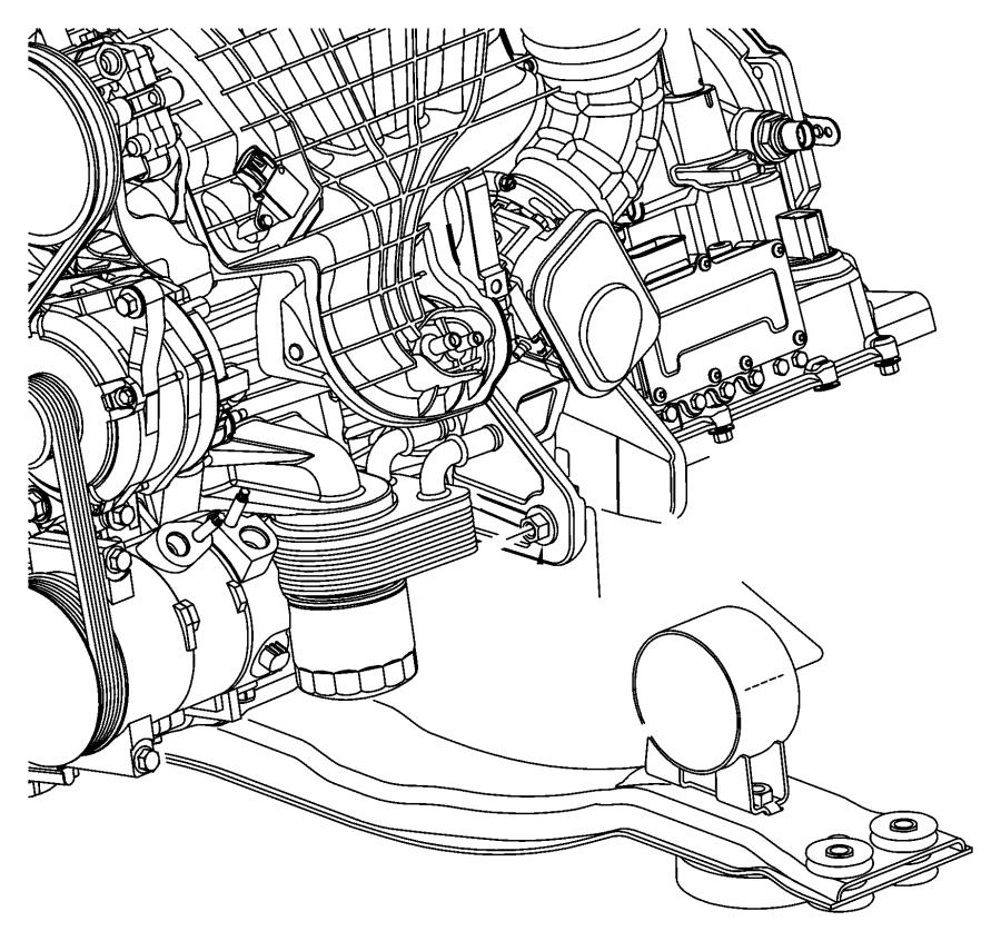 05085517ae Mopar Bracket Rear Engine Mount Egf