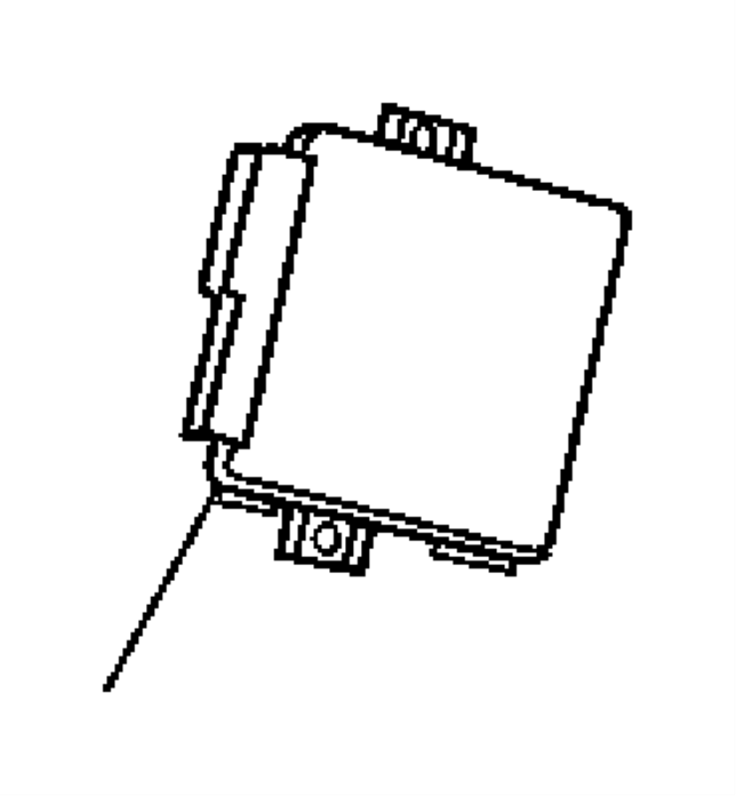 2005 chrysler crossfire module  convertible top control
