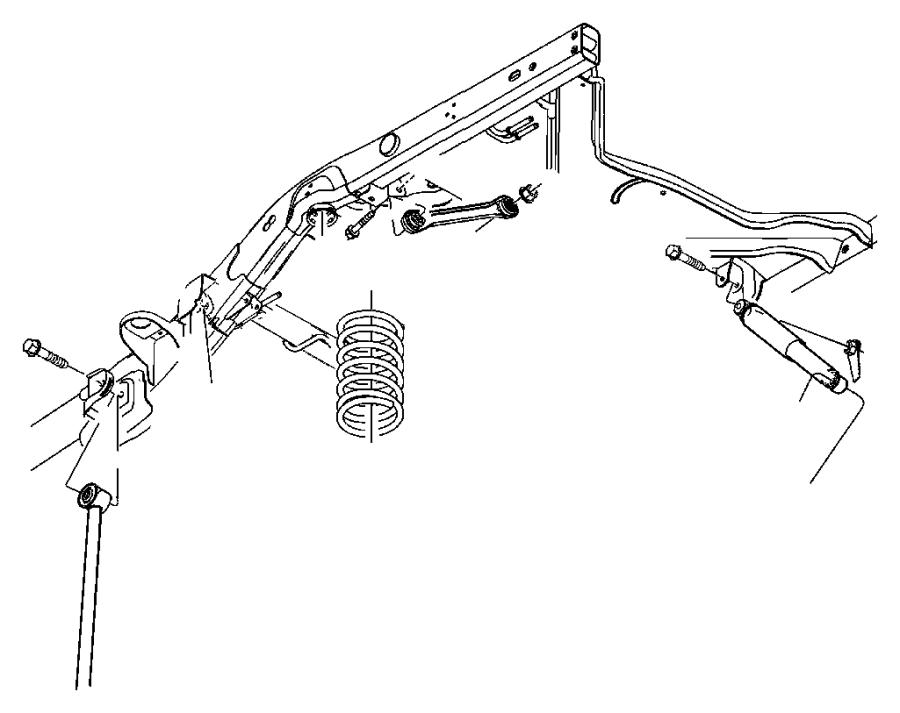 2005 dodge durango lateral link assembly  link  trackbar  watts link
