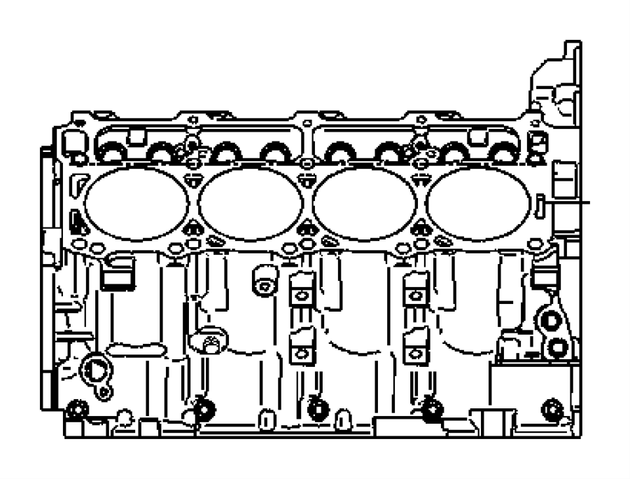 2009 Dodge Engine  Short Block