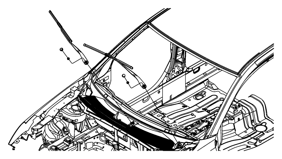 Dodge Ram 1500 Blade  Front Wiper  Left  Right  Right Or Left  Passenger Side   600 Mm