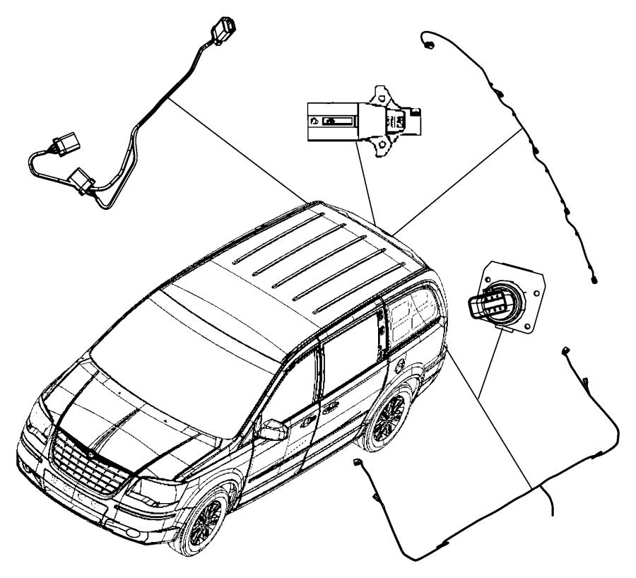 2012 dodge grand caravan wiring  rear fascia