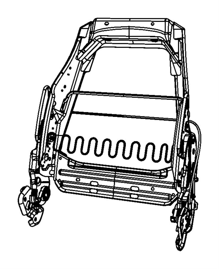 chrysler pt cruiser frame  left  front seat back  include
