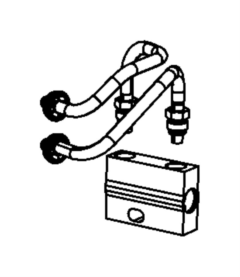 2009    Jeep       Patriot    Tube Transmission bypass valve     heater      ac  68021172AB   Mopar Parts