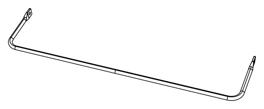 2009 dodge caliber stabilizer bar  rear suspension   sdc