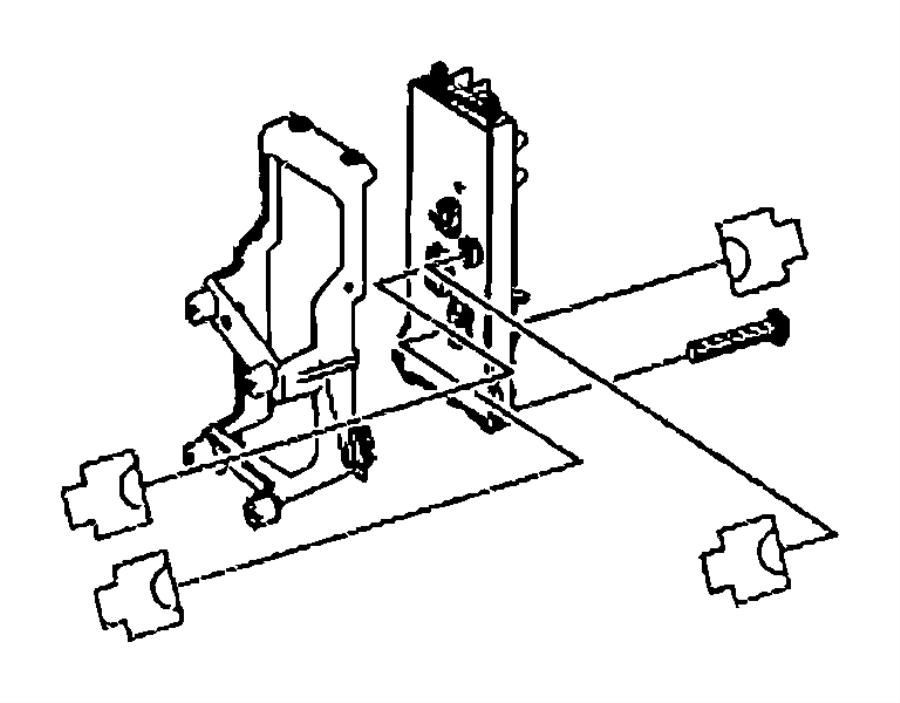dodge sprinter bracket  central electrical system