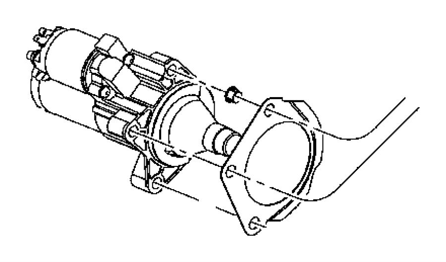 2007 chrysler starter  engine
