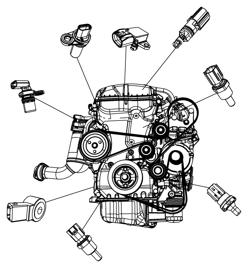 05033308AB - Dodge Sensor. Camshaft. Eba, Ecn