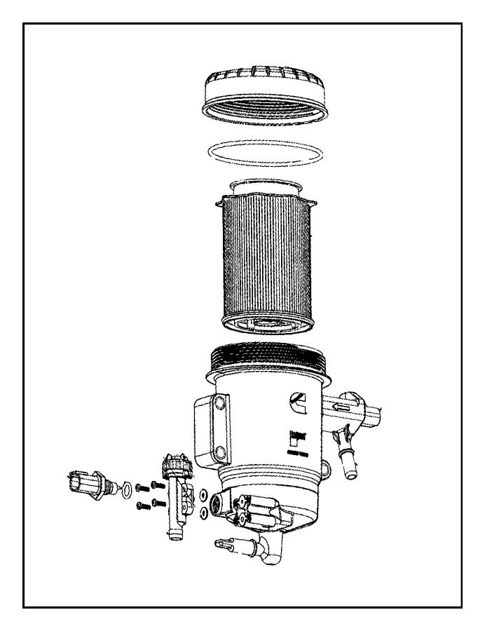 2011 dodge ram 5500 fuel filter  6 7l  6 7l i6 cummins
