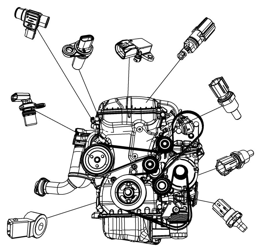 2014 Jeep Grand Cherokee Sensor  Map