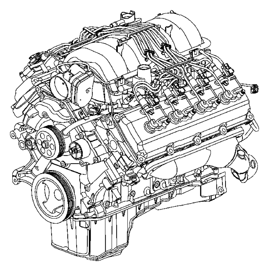 R8154340aa Dodge Engine Long Block Remanufactured