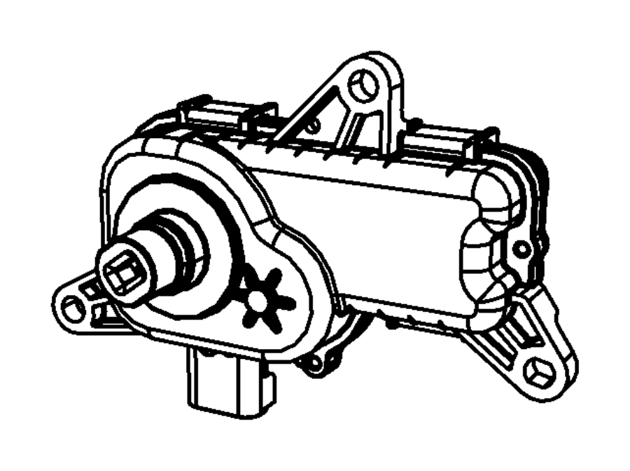 dodge ram 1500 actuator  intake short running valve  short runner valve  crew cab