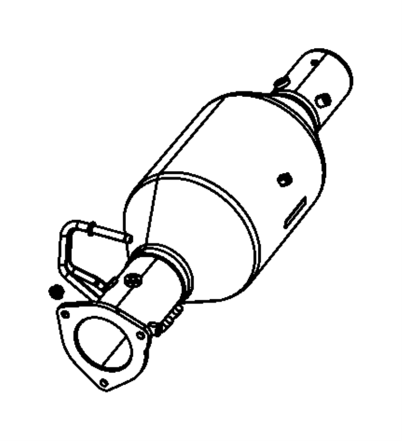 2007 dodge ram 3500 filter assy  diesel particulate
