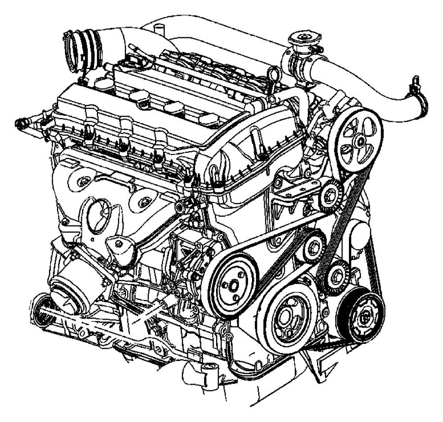 2013 Dodge Avenger Engine  Long Block
